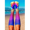 Hot Sale Mermaid Printed Knee Length Stockings