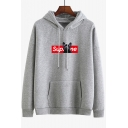 New Arrival Long Sleeve Cartoon Letter Printed Loose Thick Hoodie