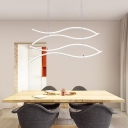 Wave Drop Light Contemporary Silicon Gel 4 Light Lighting Fixture for Living Room