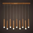 Acrylic Matchstick Shape Suspended Lamp Nordic Style Multi Light Hanging Light for Foyer