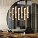 Nordic Style Bamboo Shape Drop Lamp Acrylic Multi Light Pendant Light for Restaurant