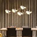 Acrylic Bird Shape Drop Light Contemporary Multi Light Pendant Lamp for Children Room