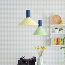 Contemporary Flask Hanging Lamp Iron Single Head Ceiling Pendant Light in Yellow