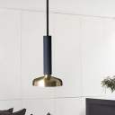 Teardrop Suspended Light Minimalist Metal 1 Light Pendant Light in Brass for Coffee Shop
