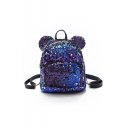 20*10*24cm Cartoon Micky Shaped Fashion Sequined Backpack for Girls
