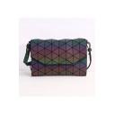 Unique Geometric Leather Straps Retro Shoulder Bag