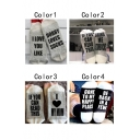 Calf High Letter Pattern Colorblock Unisex Cotton Socks