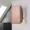 Brown Half Round Wall Sconce Contemporary Brushed Aluminum Wall Light for Balcony