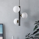 Globe Shade Suspended Light Industrial Modern Hand Blown Glass Adjustable Drop Light