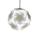 Simple Modern Floral DIY Drop Light Plastic Single Light Suspension Light in White