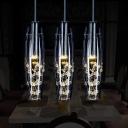 3 Lights Cocoon Pendant Light Modern Fashion Crystal Decorative Drop Ceiling Lighting