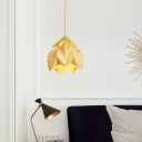 Modern Colorful Origami Drop Light Paper Single Light Ceiling Pendant Light for Kids