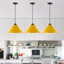 Colorful Nordic Cone-Shaped Drop Light Aluminum Single Light Suspended Light for Children Room