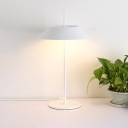 Modern Fashion Tapered Table Lighting Steel Single Light Decorative Table Lamp in White Finish