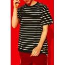 Comfort Cotton Classic Fashion Striped Print Unisex Loose Fit T-Shirt