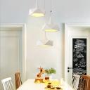 Polygon LED Pendant Lighting Modern Light Fixture Metal 1 Light Geometric Hanging Pendant Light in White