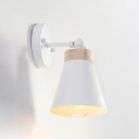 Rotatable Cone Wall Light Modern Simplicity Metal Decorative Wall Lamp for Study Room