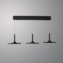 3 Light LED Disc Pendant Lights Modern Aluminum Drop Light in Black for Dining Room Kitchen