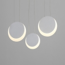 Disc Cluster Pendant Light Simplicity Acrylic Multi Light Drop Light for Porch Hallway