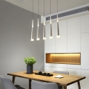 Silver Spire LED Suspended Lamp Modernism Acrylic 5 Light/6 Light Drop Light for Kitchen
