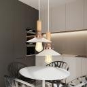 Shallow Flared Pendant Lamp Modern Design Transparent Glass 1 Head Suspended Lamp