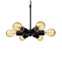 Burst Bulb Style LOFT LED Ceiling Pendant with 6 Lights