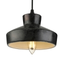 Rustic Wrought Iron Mini Pendant Light 6'' Wide Barn Shade Single Light Pendant for Kitchen Warehouse