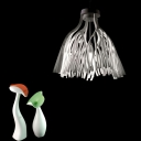 Foglie Ceiling Pendant Light Modern Fashion Acrylic 1 Head Suspension Light in White