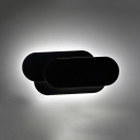 Aluminum Facet Wall Mount Light Contemporary LED Wall Light Fixture in Black for Bedroom