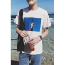 New Stylish Cool Gesture Printed Short Sleeve Loose Fit Summer T-Shirt