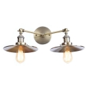 Metallic Railroad Wall Light Sconce Industrial 2 Bulbs Wall Lighting in Bronze for Hallway