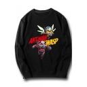 ANT-MAN WASP Printed Long Sleeve Round Neck Leisure Sweatshirt