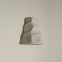 Designers Style Industrial Suspended Light Cement Ceiling Light in Concrete Gray