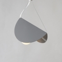 Grey Open Bulb Suspended Light Modern Fashion Metal Drop Light for Balcony