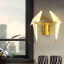 2 Light Bird Shade Wall Light Lodge Vintage Metal Wall Light for Staircase Corridor