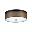 Warm/White Drum Ceiling Light Contemporary Simple Fabric LED Flush Mount Light