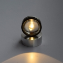 Semicircle Mini Wall Light with Glass Shade Minimalist Single Head LED Sconce Lighting in Chrome