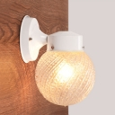 Swirl Glass Global Wall Lamp Modern Single Head Wall Light Sconce in White for Staircase
