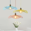 Twiggy Grid Pendant Light Contemporary Colorful Metal Single Light Hanging Light in Brass