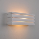 Contemporary Rectangle Sconce Light Plaster Single Light Wall Mount Fixture in White