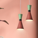 Colorful Modern Hourglass Suspended Light Aluminum Single Light Hanging Lamp for Kids