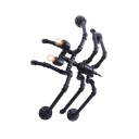 Iron Spider Design Pipe Wall Lamp Industrial Stylish 2 Lights Wall Mount Light in Black