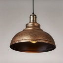 Vintage Pendant Light in Barn Style with  Metal Shade