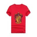 Popular Harry Potter University Badge Printed Short Sleeve Cotton T-Shirt