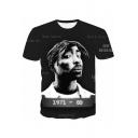 American Rapper Hip Hop Style 3D Rap Star Printed Streetwear Black Souvenir T-Shirt
