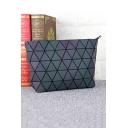 Zip Closure Luminous Geometric Chain Green Shoulder Bag