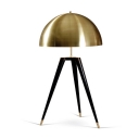 Antique Brass Dome Table Lamp Vintage Designers Style Steel Desk Light for Study Room