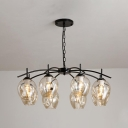 Bubble Suspended Light Vintage Metal 8 Light Adjustable Cognac Glass Ceiling Light with Chain