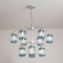 Modern Bubble Suspension Light Metal Multi Light Adjustable Drop Light for Exhibition Hall