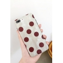 New Trendy Burgundy Polka Dot Print Unisex iPhone Case